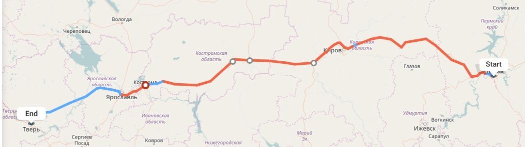 Переезд из Перми в Тверь