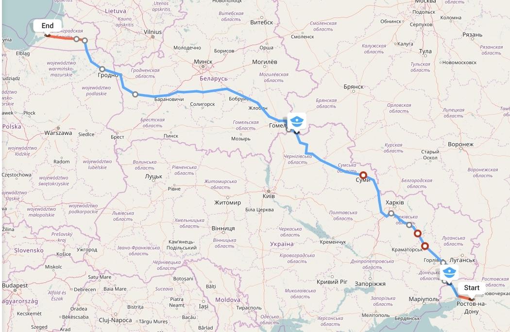 Переезд из Ростова-на-Дону в Калининград