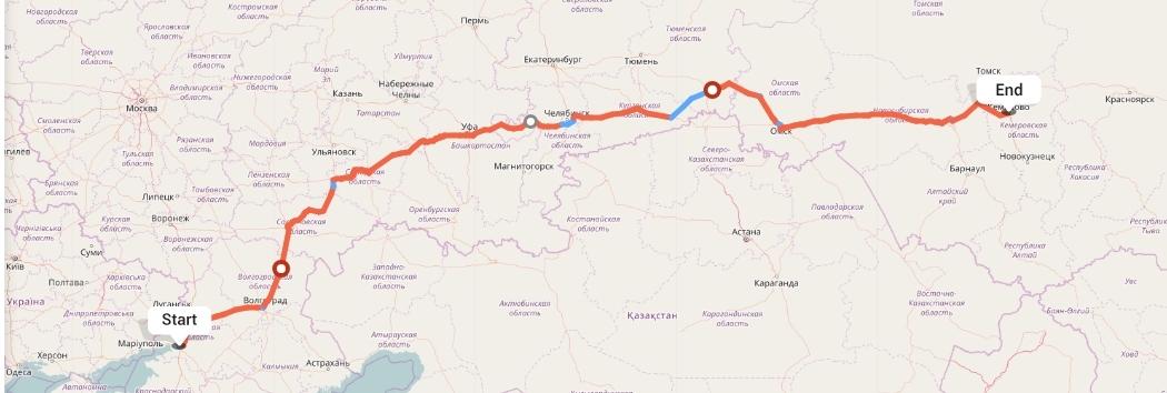 Переезд из Ростова-на-Дону в Кемерово