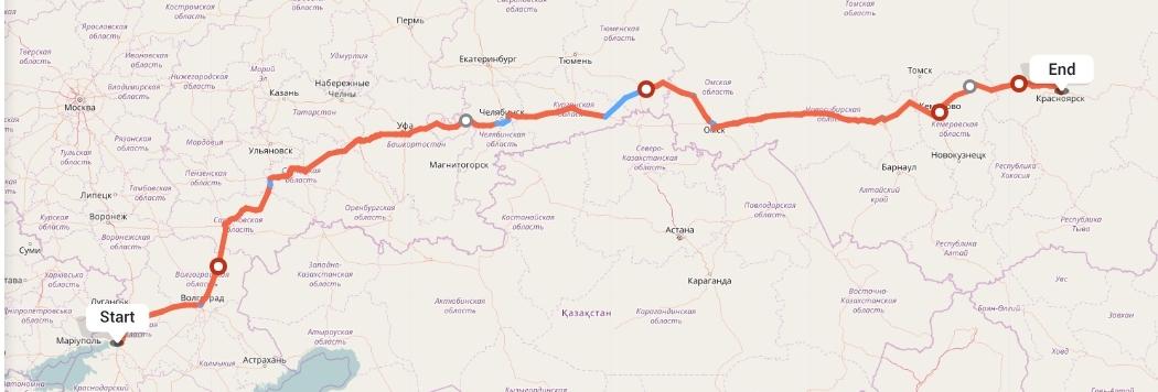 Переезд из Ростова-на-Дону в Красноярск