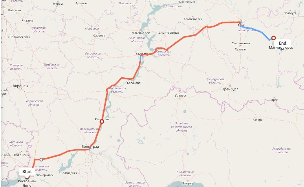 Переезд из Ростова-на-Дону в Магнитогорск