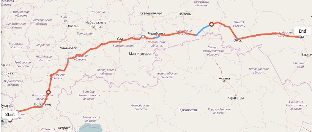 Переезд из Ростова-на-Дону в Новосибирск
