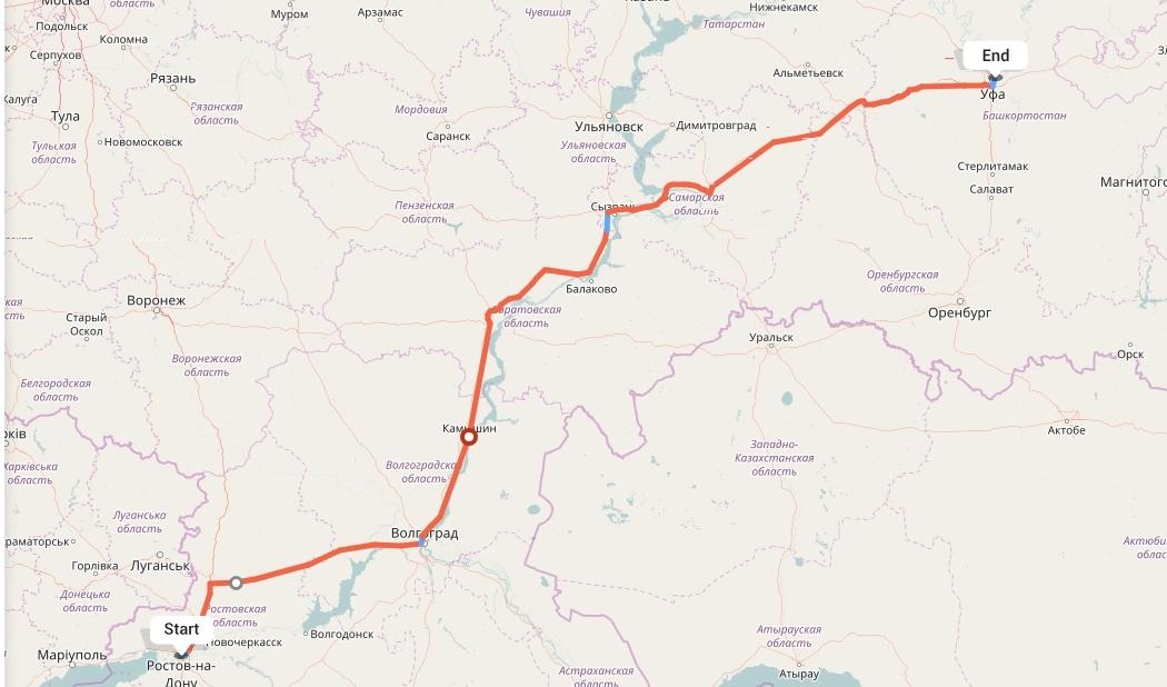 Переезд из Ростова-на-Дону в Уфу