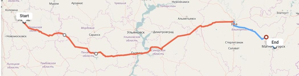 Переезд из Рязани в Магнитогорск