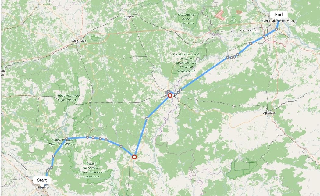 Переезд из Рязани в Нижний Новгород
