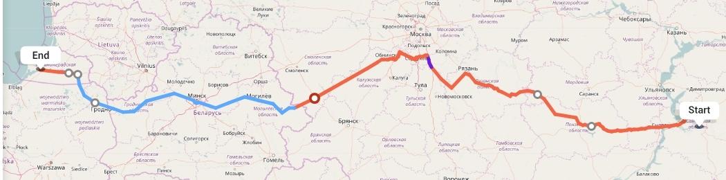 Переезд из Самары в Калининград