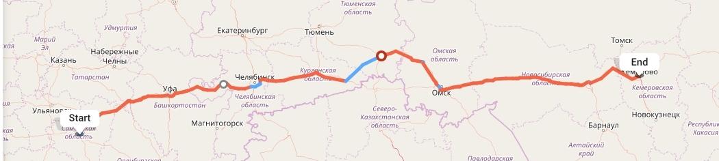Переезд из Самары в Кемерово