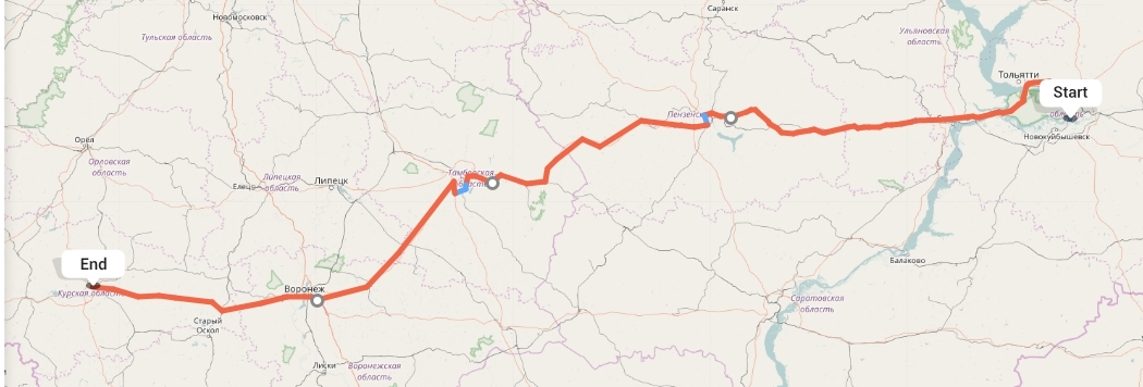 Переезд из Самары в Курск