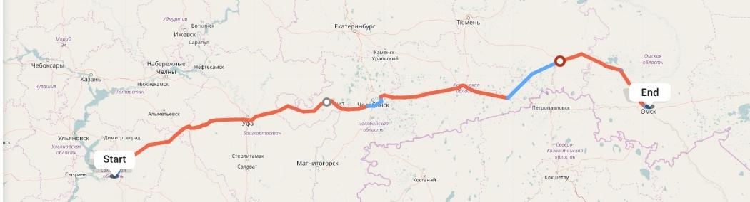 Переезд из Самары в Омск