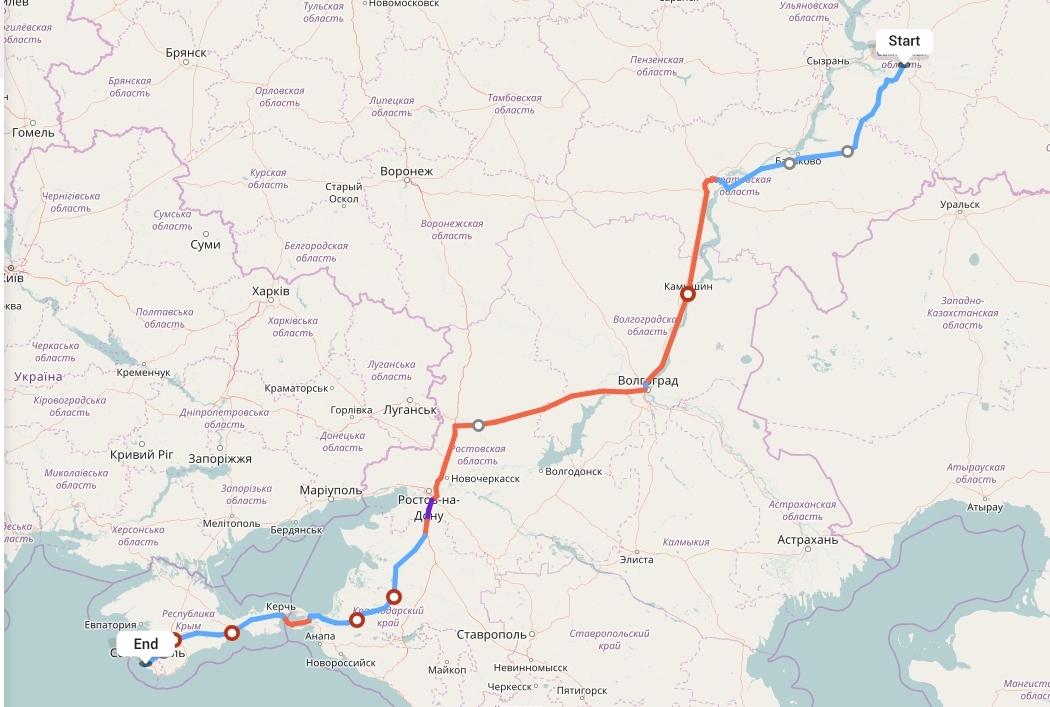 Переезд из Самары в Севастополь
