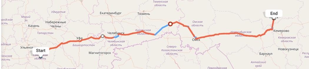 Переезд из Самары в Томск