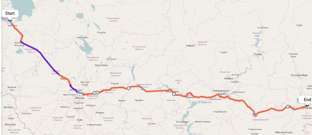 Переезд из Санкт-Петербурга в Челябинск