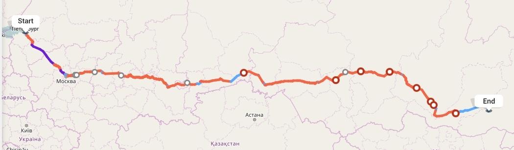 Переезд из Санкт-Петербурга в Читу