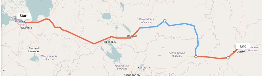 Переезд из Санкт-Петербурга в Киров