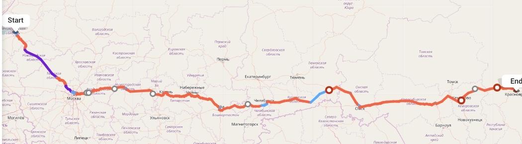 Переезд из Санкт-Петербурга в Красноярск