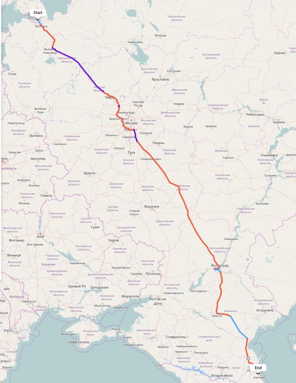 Переезд из Санкт-Петербурга в Махачкалу