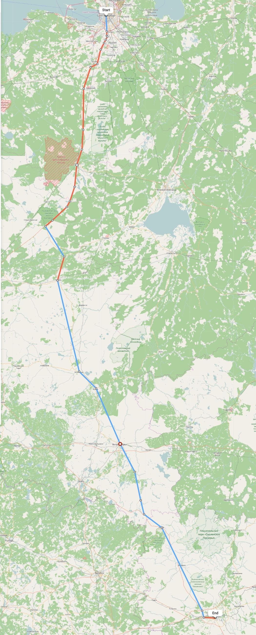 Переезд из Санкт-Петербурга в Смоленск