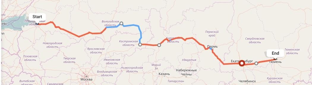 Переезд из Санкт-Петербурга в Тюмень