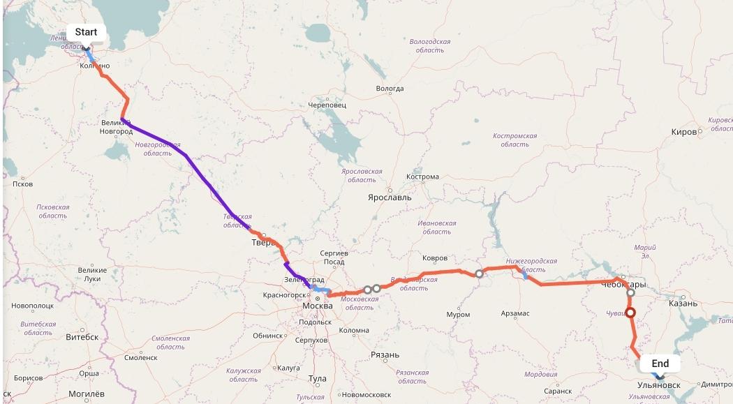Переезд из Санкт-Петербурга в Ульяновск