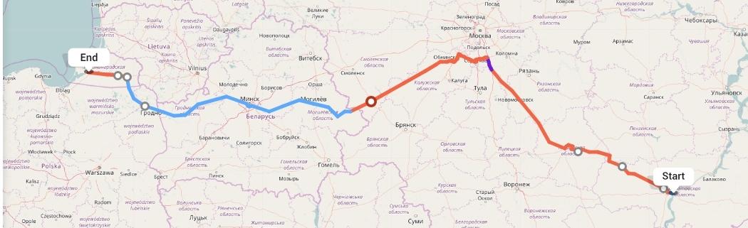 Переезд из Саратова в Калининград