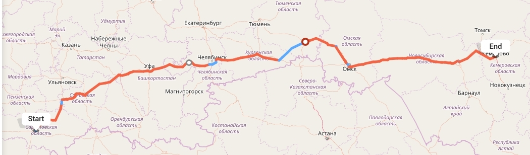 Переезд из Саратова в Кемерово