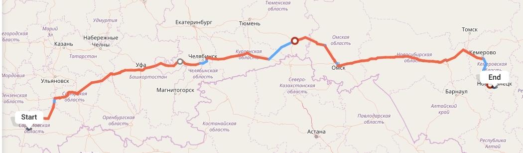 Переезд из Саратова в Новокузнецк