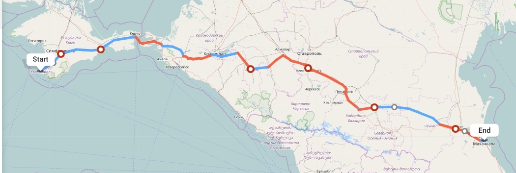 Переезд из Севастополя в Махачкалу