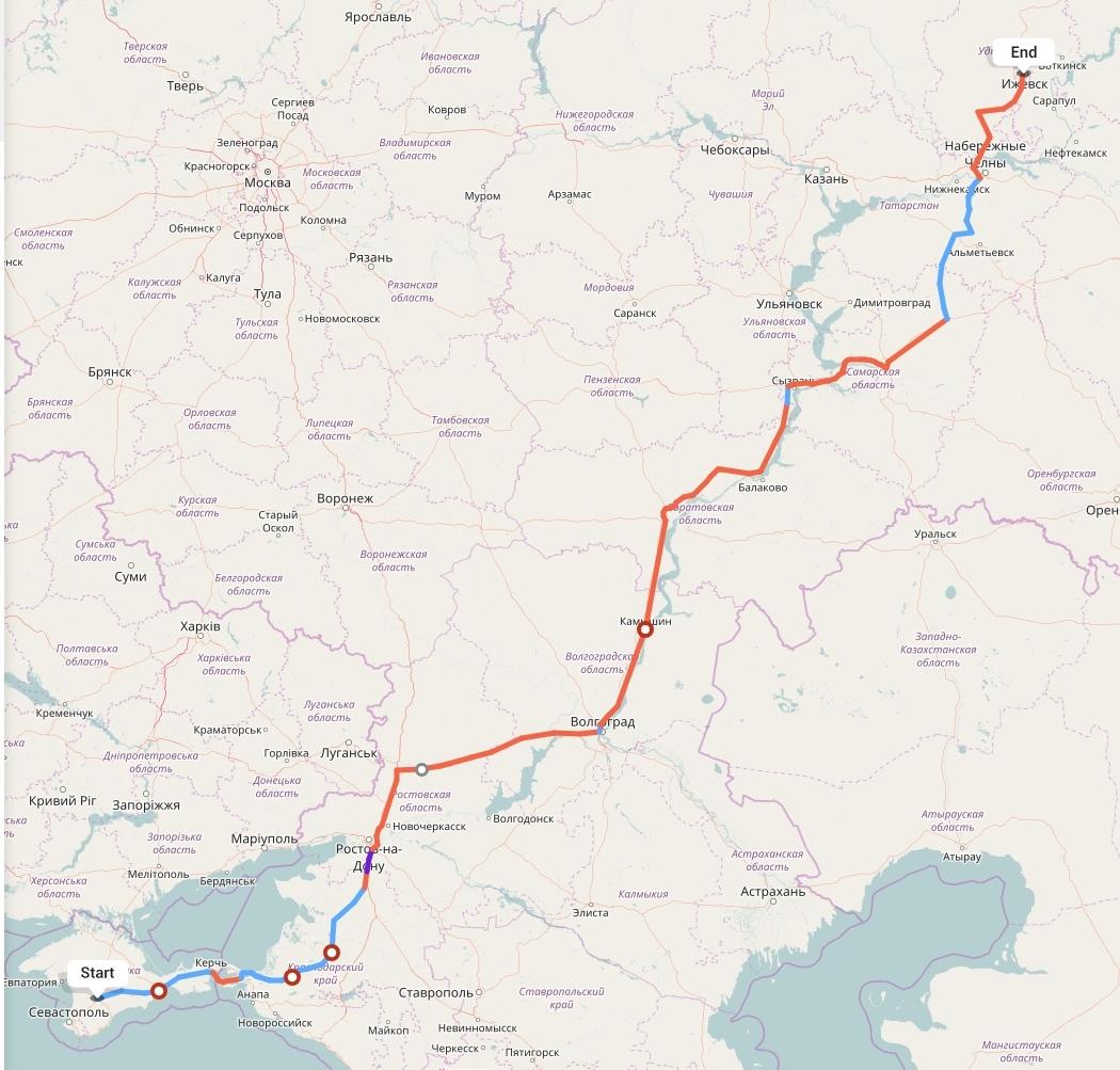 Переезд из Симферополя в Ижевск