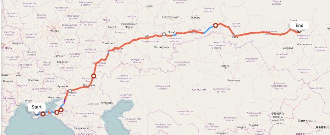 Переезд из Симферополя в Кемерово