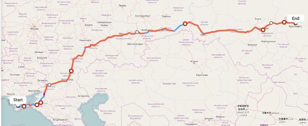Переезд из Симферополя в Красноярск