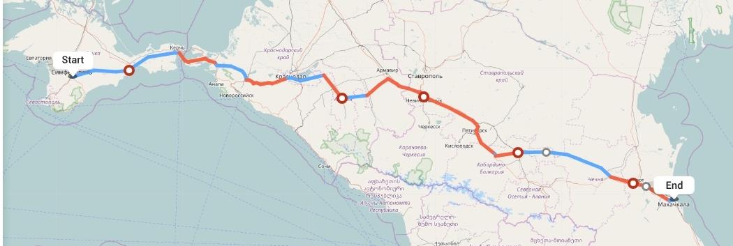 Переезд из Симферополя в Махачкалу