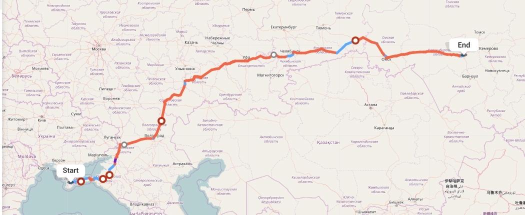 Переезд из Симферополя в Новосибирск