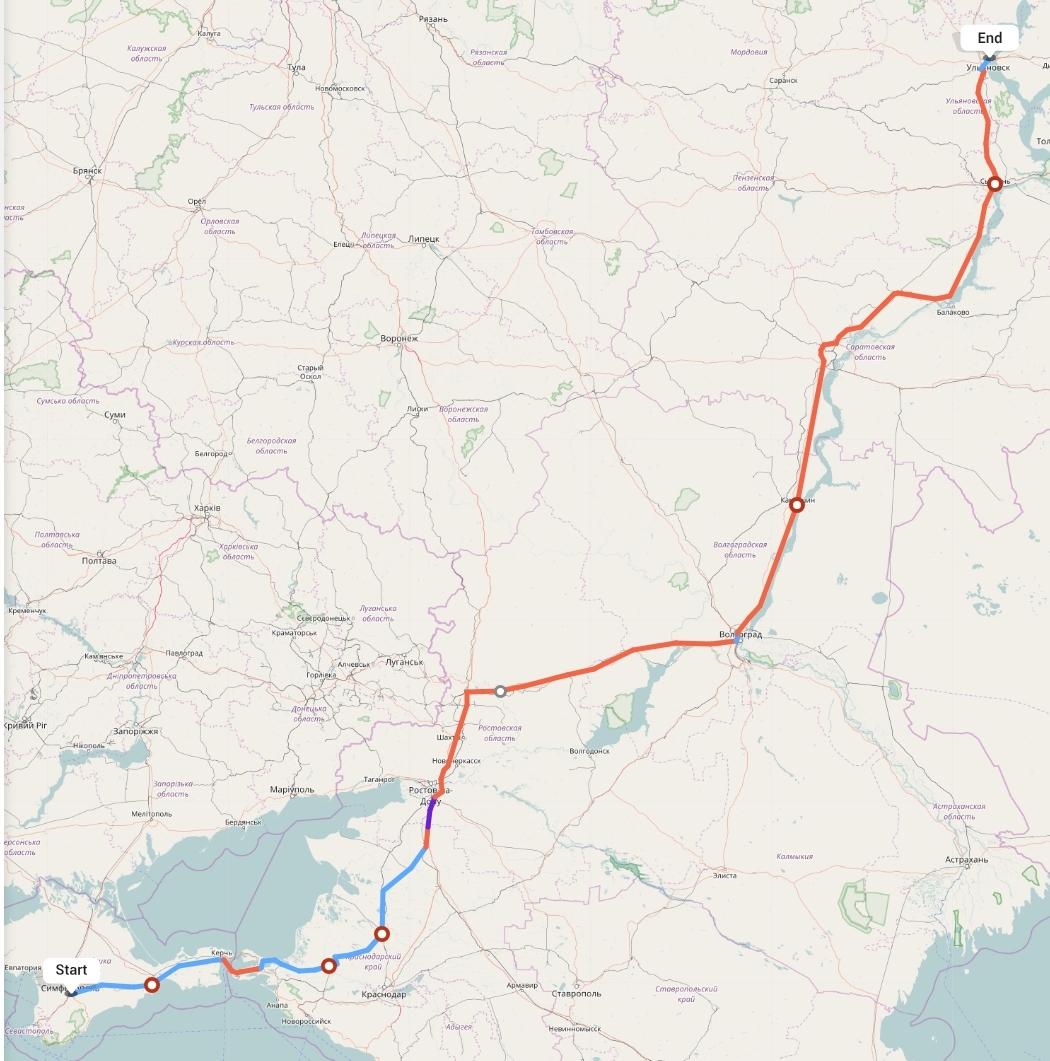 Переезд из Симферополя в Ульяновск