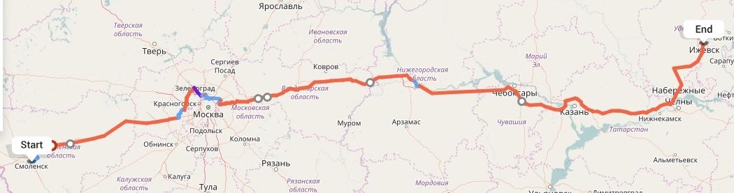 Переезд из Смоленска в Ижевск