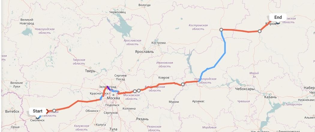 Переезд из Смоленска в Киров
