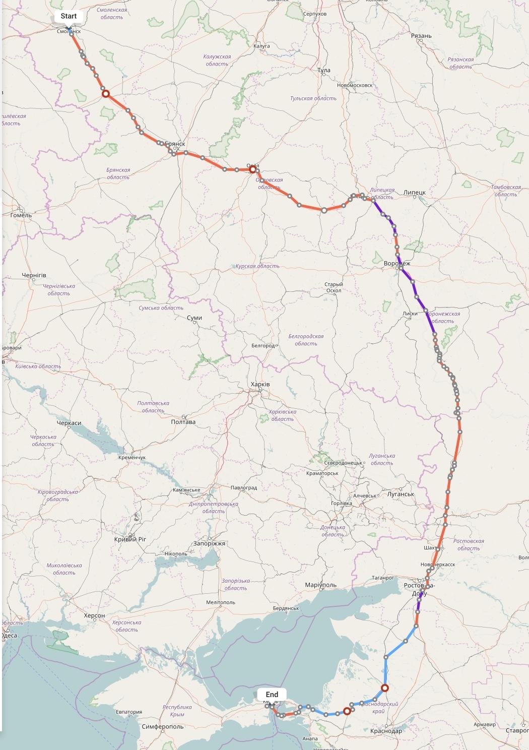 Переезд из Смоленска в Крым