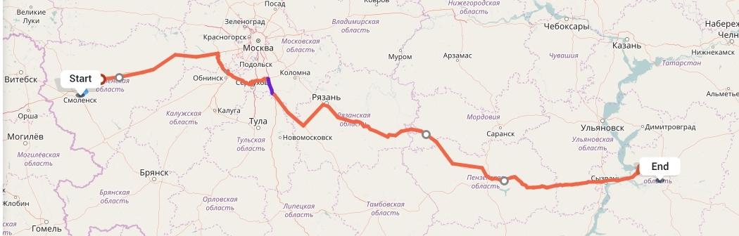 Переезд из Смоленска в Самару