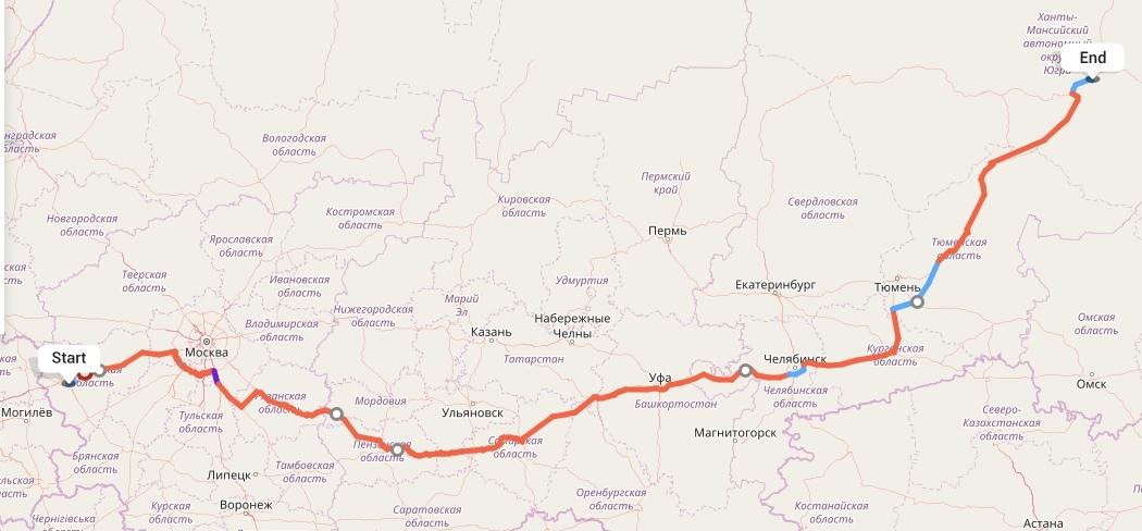 Переезд из Смоленска в Сургут