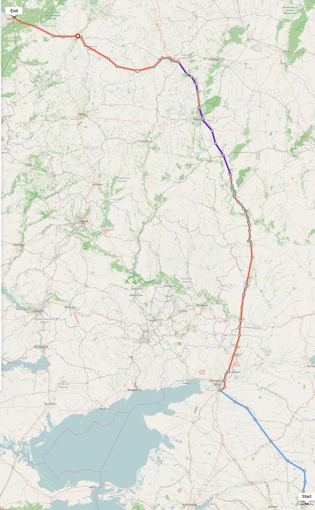 Переезд из Ставрополя в Брянск