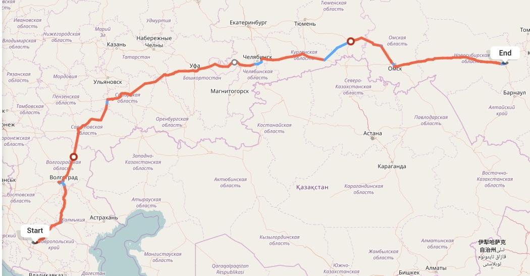 Переезд из Ставрополя в Новосибирск