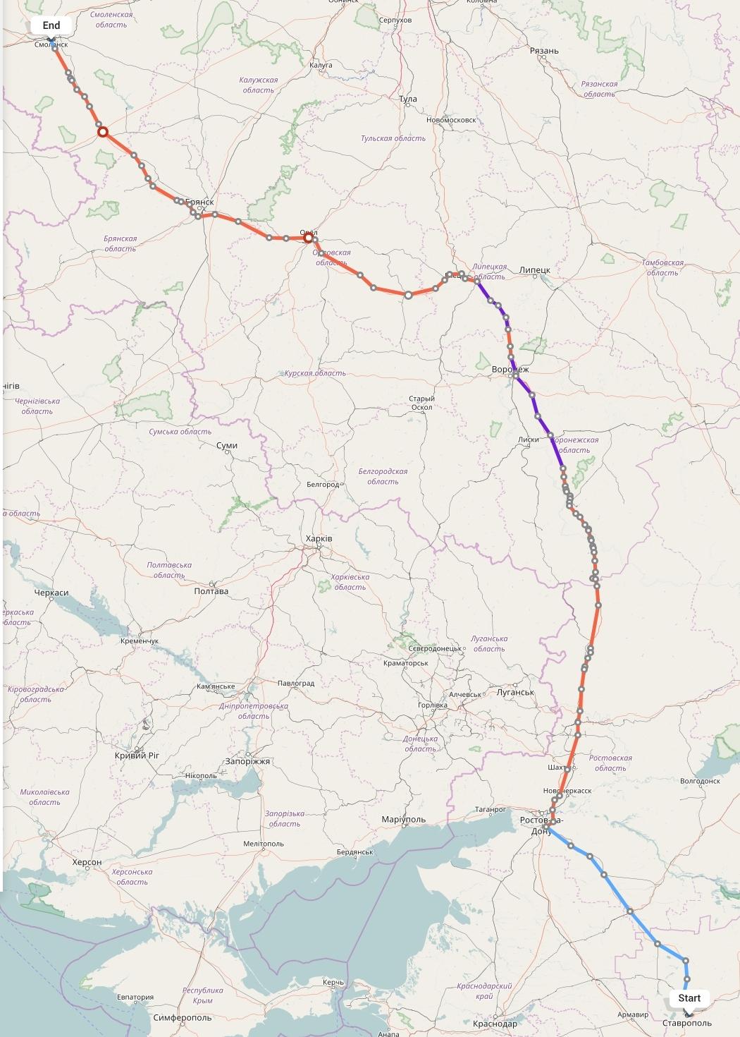 Переезд из Ставрополя в Смоленск