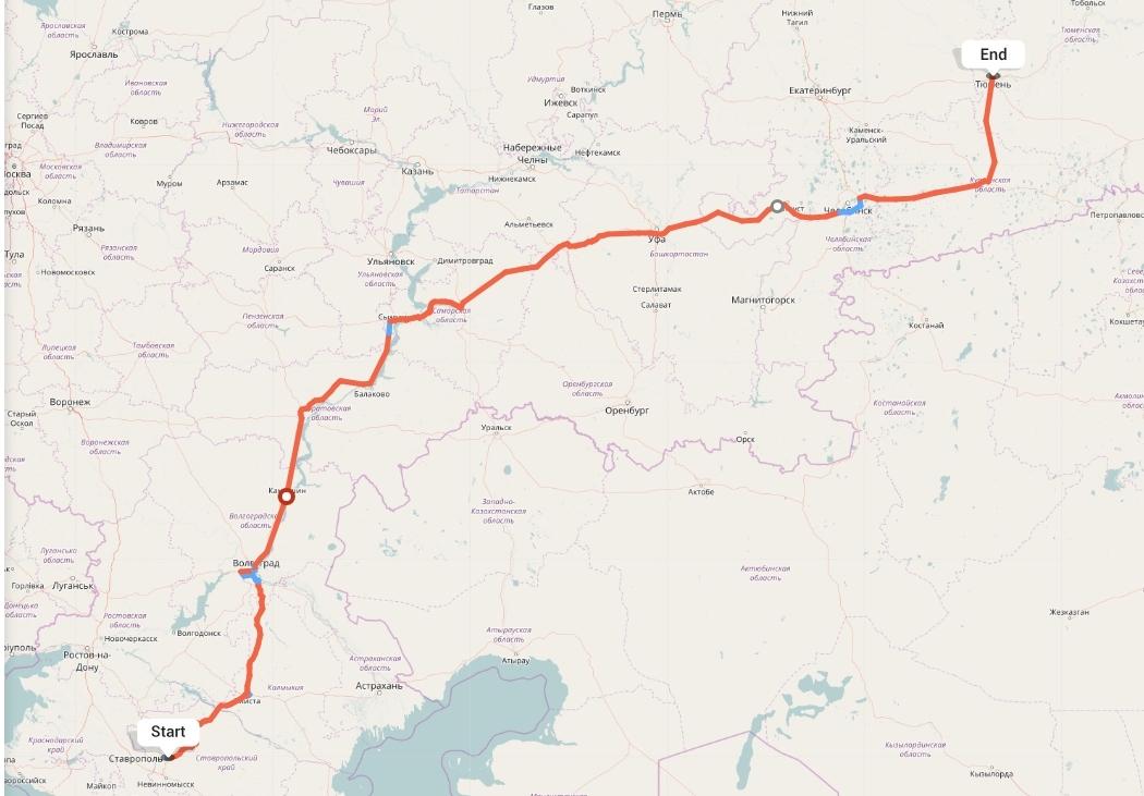 Переезд из Ставрополя в Тюмень