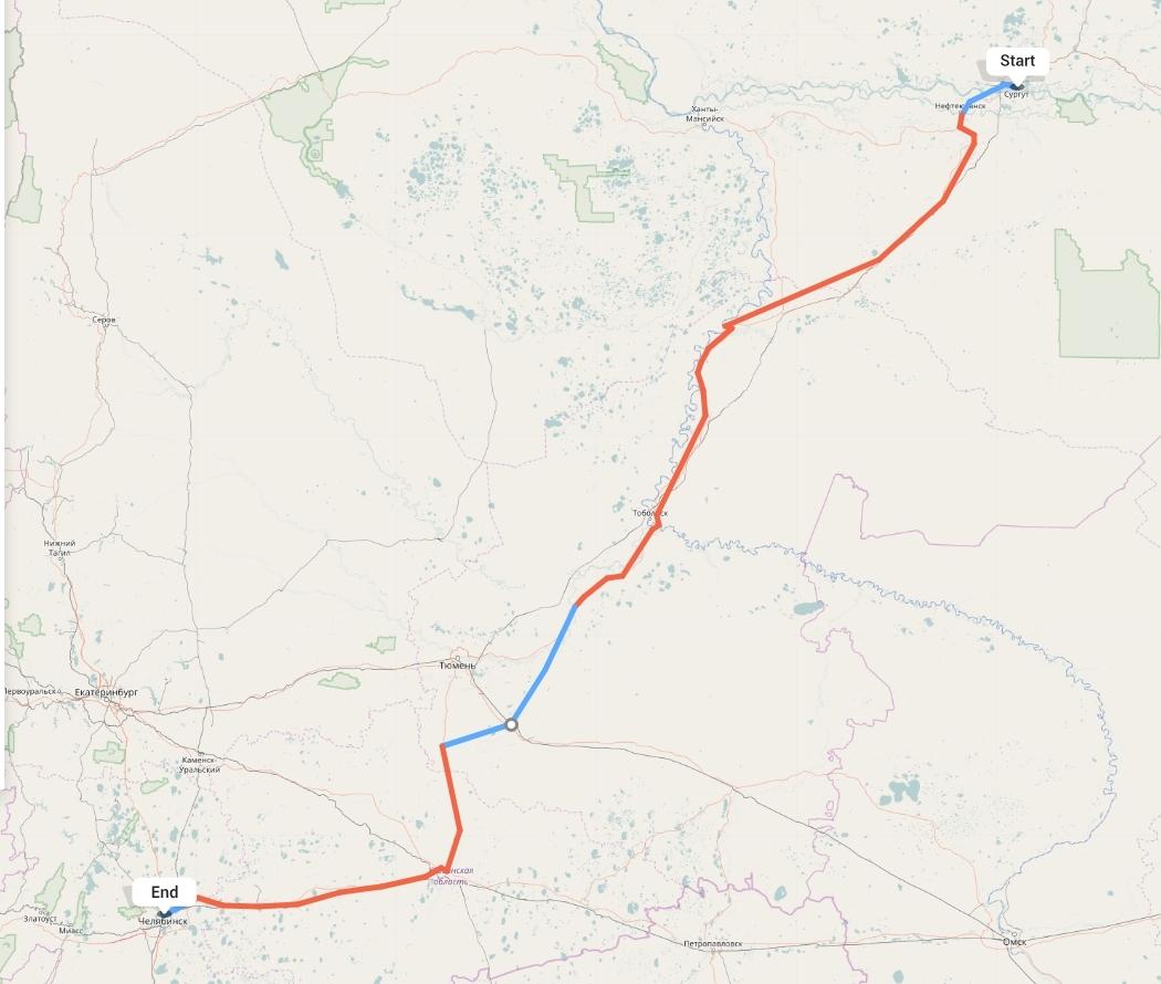 Переезд из Сургута в Челябинск