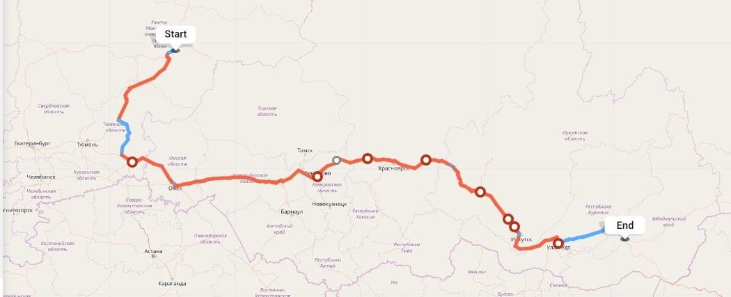Переезд из Сургута в Читу