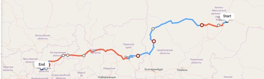 Переезд из Сургута в Иваново