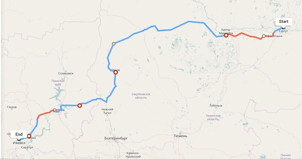 Переезд из Сургута в Ижевск