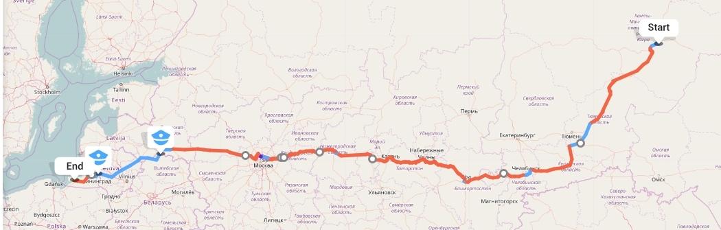 Переезд из Сургута в Калининград