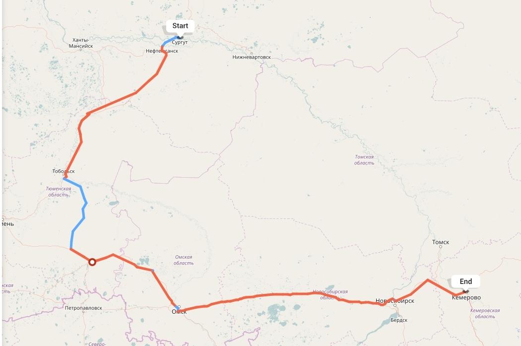 Переезд из Сургута в Кемерово
