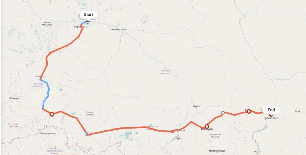 Переезд из Сургута в Красноярск