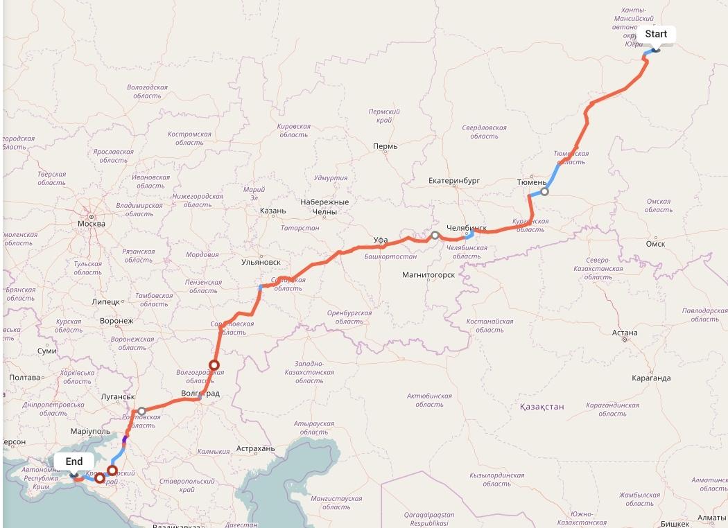 Переезд из Сургута в Крым